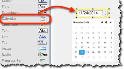 Creating calendar widget