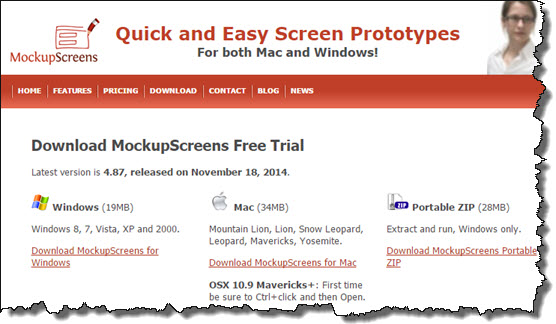 Download Trial from MockupScreens Website