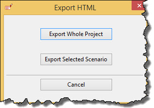 HTML export options