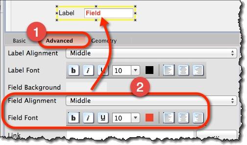 Labeled widgets formatting a widget