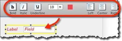 Labeled widgets formatting