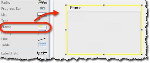 Creating frame widget