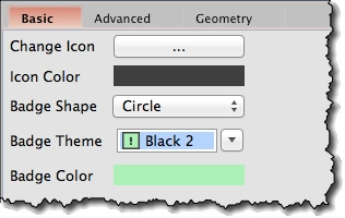 Icon widget basic properties