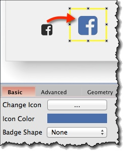 Icon formatting