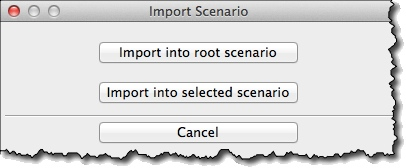 Import scenario options
