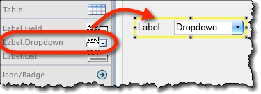 Labeled dropdown widget