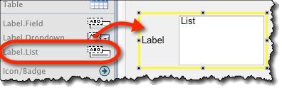 Labeled list widget