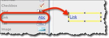 Creating link widget