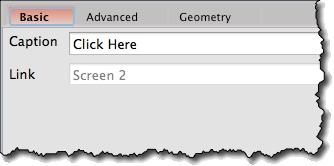 Link widget basic properties