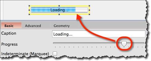 Indicator on progress widget