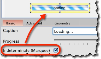 Marquee style progress bar