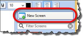 Adding new screen