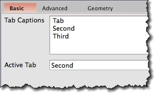 Tab widget basic properties