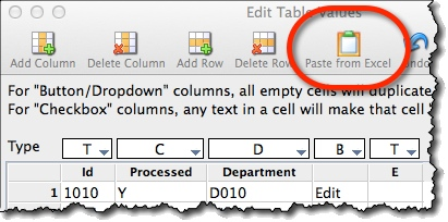 Copy-pasting data from Excel