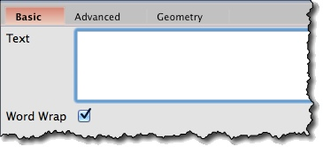 Text widget basic properties