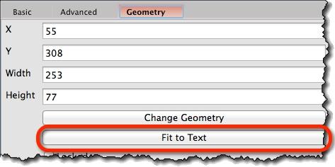 Text widget geometry properties