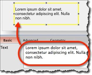 Editing text widget