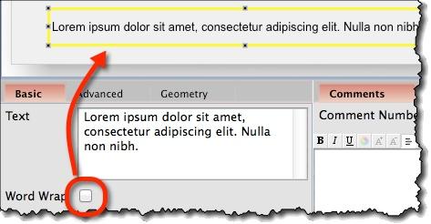 Text widget word wrap