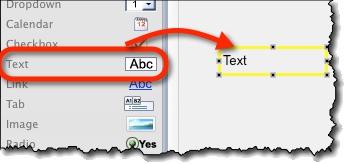 Creating text widget