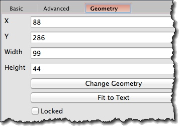 Setting widgets geometry