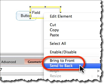 Reorder widgets from the right-click menu