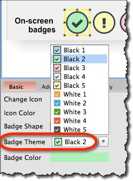 Icons as Badges