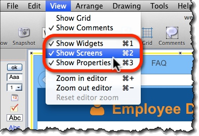 Shortcuts to toggle editor panels